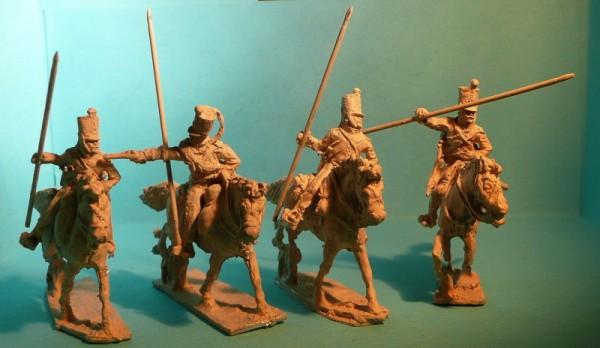 Französisches 2. Eclaireur Regiment - Mannschaften angreifend