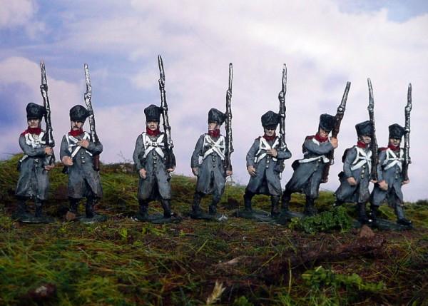 Preußische Mannschaften im Mantel (1813 - 1815)