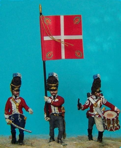 Dänische Linieninfanterie - Grenadiere - Command Set (1812 - 1814)