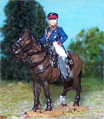 Generalleutnant Graf August-Wilhelm von Gneisenau (zu Pferd)