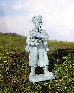 Preußischer Fahnenträger im Mantel (1808 - 1815)