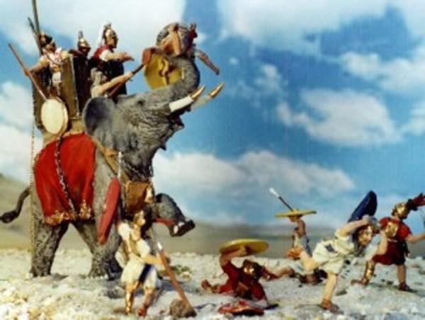 Römischer Kriegselefant mit Turm