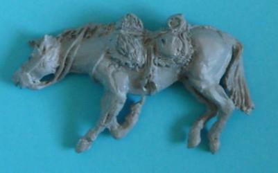 Totes preußisches Pferd für Husaren und Landwehrkavallerie