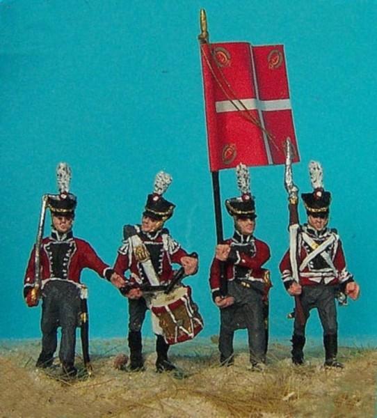 Danische Linieninfanterie - Musketiere - Command Set (1812 - 1814)