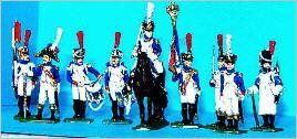 Französische Mittlere Garde - Füsilier-Grenadiere - Command Set
