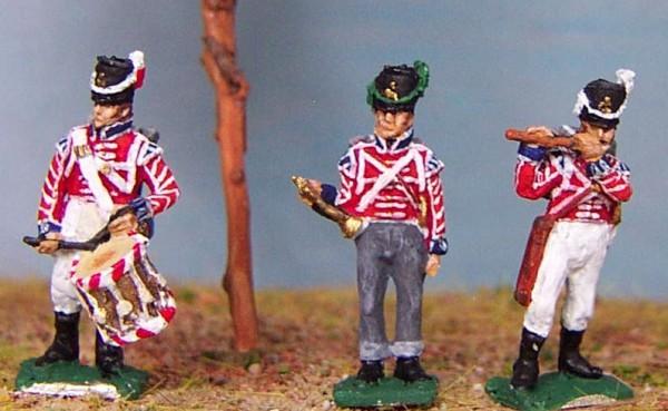 Britische Foot Guards - Trommler, Pfeiffer und Trompeter