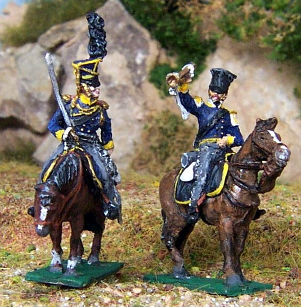 Preußische Ulanen.- Command Set - 3. Schlesisches Landwehr-Kavallerie-Rgt.