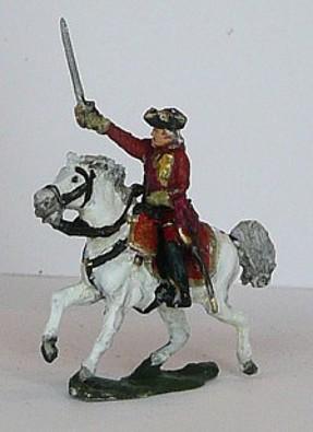 Britischer Regimentskommandeur (zu Pferd)