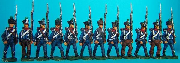 Französische Leichte Infanterie - Zentrumskompanie - Chasseurs (1812 - 1815)