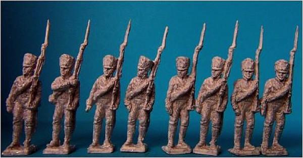 Preußische Linieninfanterie (das Gewehr geschultert)