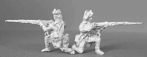 Preußische Musketiere (kniend, feuernd)