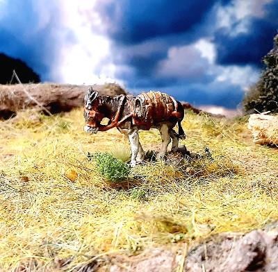 1808 - 1815: Esel mit Korb und Fass