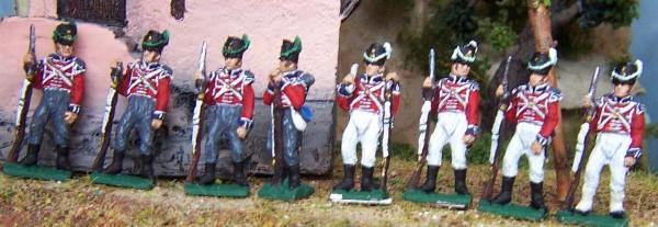 1814 - 1815: Britische Garde - Flanken-Kompanie (1814 - 1815)