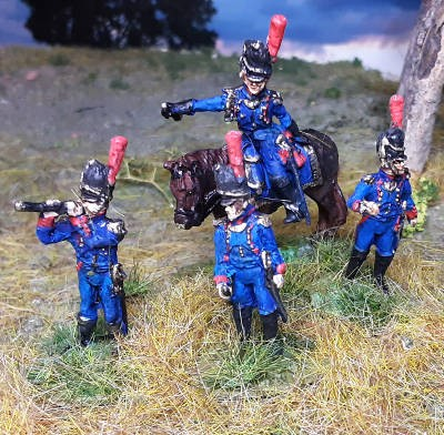 1810 - 1815: Französische Artillerie-Offiziere der Alten Garde