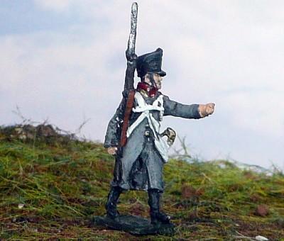 Preußischer Unteroffizier im Mantel (1813 - 1815)