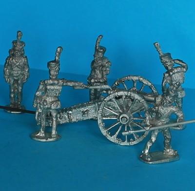 Polnische Fußartillerie-Geschütz-Bedienung (1808 - 1814)