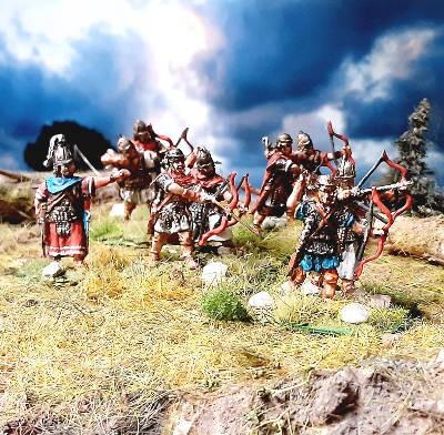 1 - 2 AD: Römische Bogenschützen