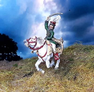 Murat (Kommandant der Kavallerie in der Grande Armee) zu Pferd