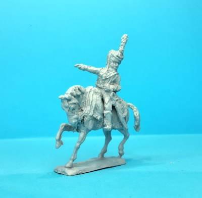 1805 - 1815: Französischer Major der Husaren (zu Pferd)