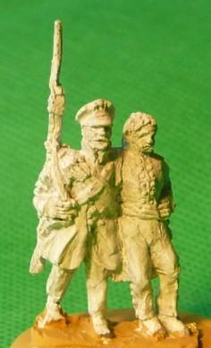 Preußischer Landwehr-Soldat mit Offizier (1813 - 1815)