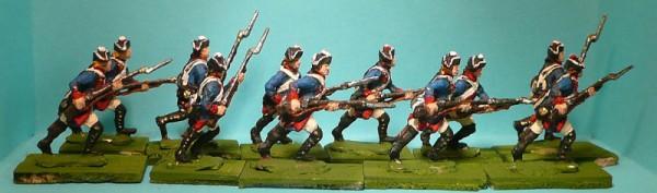 Preußische Musketiere vorstürmend (1740 - 1763)