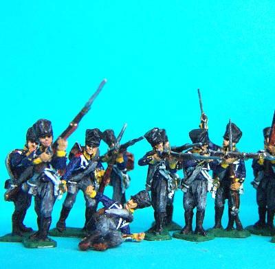 1813 - 1815: Preußische Linieninfanterie in verschiedenen Posen