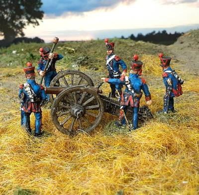 1813 - 1815: Französische reitende Linienartillerie inkl. 6-Pfund-Kanone (Modell 1808)