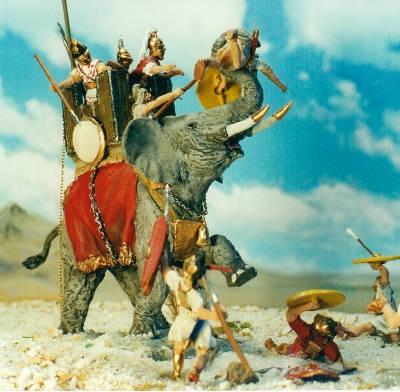 264 - 226 BC: Kriegselefant mit Turm