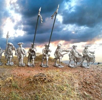 Französische Linieninfanterie marschierend (1740 - 1763)