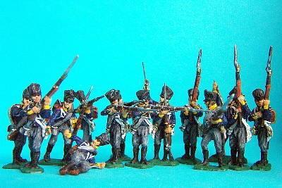 Preußische Linieninfanterie in verschiedenen Posen (1813 - 1815)