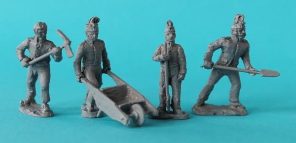 Französische Soldaten beim  Arbeiten (1805 - 1815)