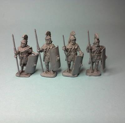 1 - 2 AD: Römische Legionäre (mit rechteckigem Schild)