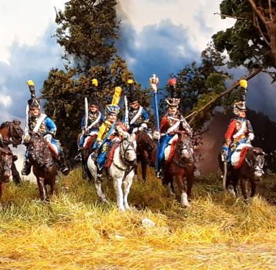 1805 - 1815: Französische Husaren (in verschiedenen Posen)