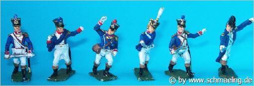 Französische Füsiliere der Linie - Offiziere