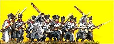 1813 - 1815: Preußische Linieninfanterie im Mantel
