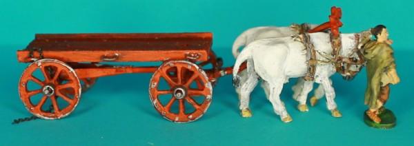 Schwerer römischer Pionierwagen (mit Ochsen)
