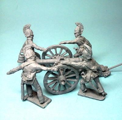 1808 - 1815: Russische reitende Linieninfanterie (mit 6-Pfund-Kanone)