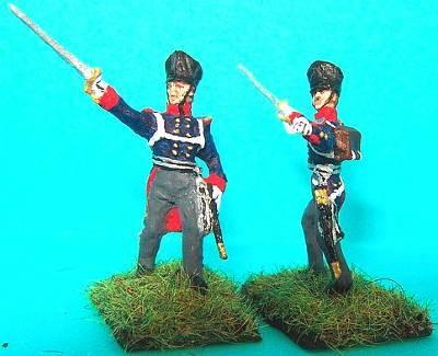 Preußische Linieninfanterie - Offiziere vorgehend (1813 - 1815)