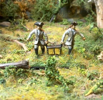 1750 - 1763: Artilleristen (ohne Uniform)