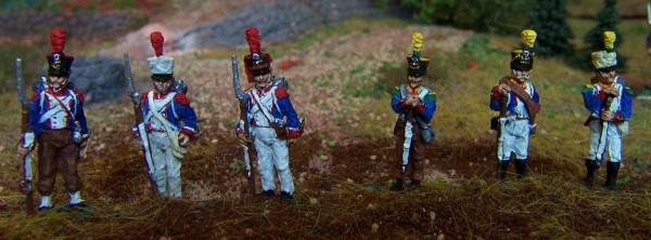 Französische Grenadiere und Voltigeure