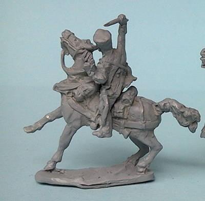1813- 1815: Preußischer Train-Soldat auf scheuendem Pferd