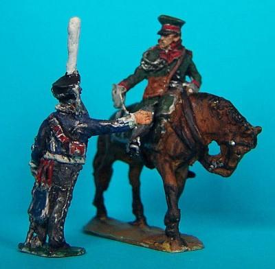 1812 - 1815: Russische Husaren - Offizier und Flügeladjutant