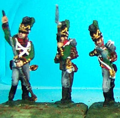 1808 - 1815: Bayerische Infanteristen plänkelnd (1/72)