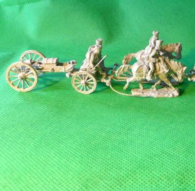 1813 - 1815: Preußische Fußartillerie mit Zugpferden