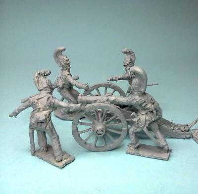 Russische reitende Garde-Artillerie mit Haubitze (Unicorn)