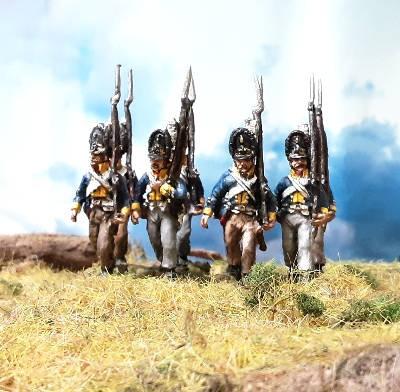 1806: Preußische Grenadiere marschierend (28 mm)