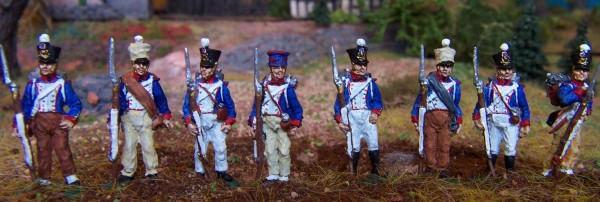 Französische Füsiliere in Felduniform (1812 - 1815)