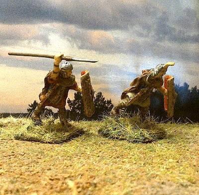 Römische Legionäre angreifend (2 AD)