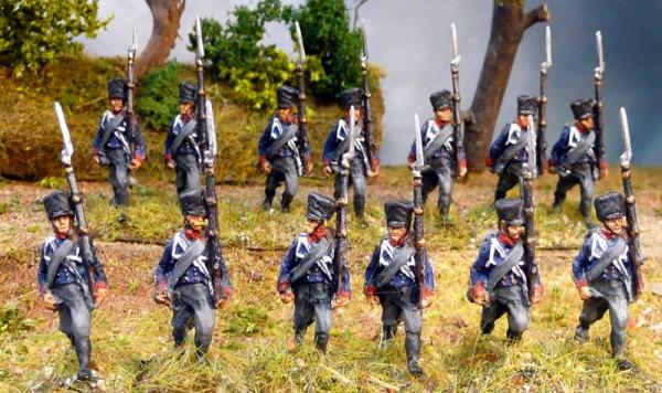 Preußische Linieninfanterie marschierend (1813 - 1815)