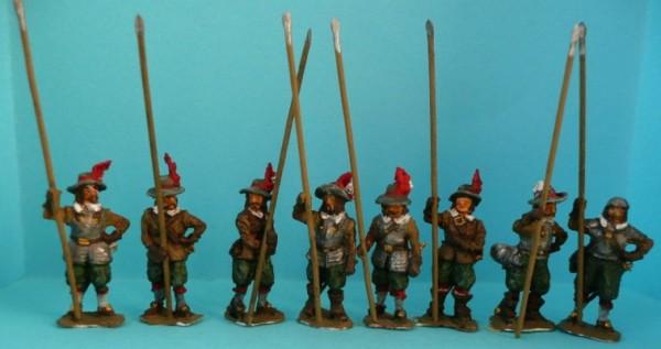 1618 - 1648: Pikeniere (mit Schlapphüten und Piken)